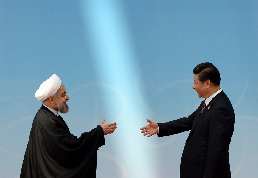 Iranian President Hassan Rouhani and Chinese President Xi Jinping. REUTERS.
