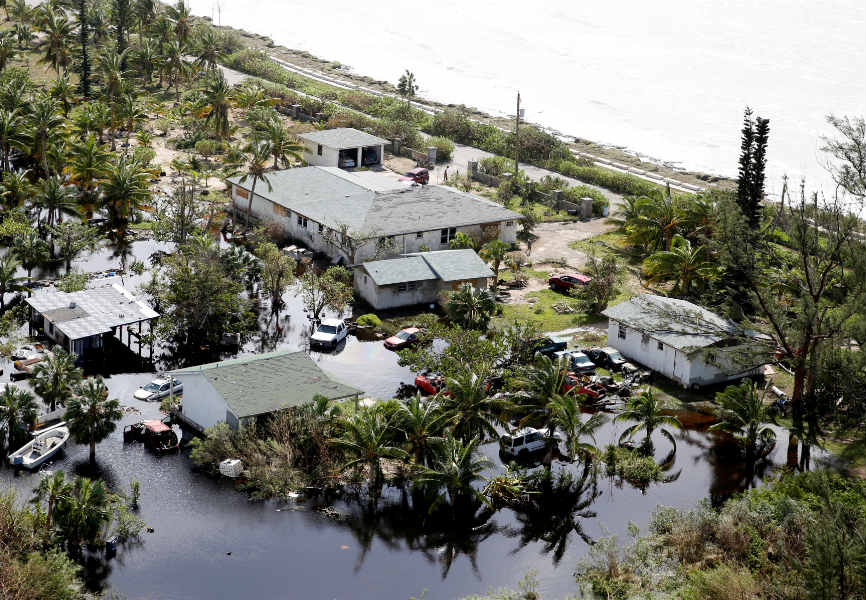 A flooded area after Hurricane Dorian hit the Bahamas. REUTERS.