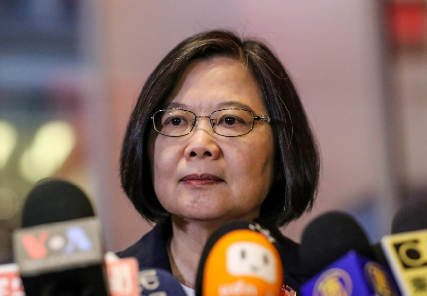 Taiwan President Tsai Ing-wen in New York. REUTERS.