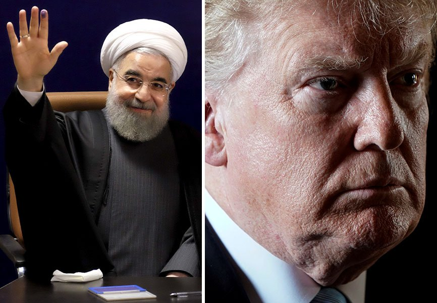Iranian President Hassan Rouhani and US President Donald Trump. REUTERS.